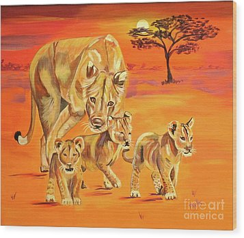 Do What Mom Says Wood Print by Phyllis Kaltenbach