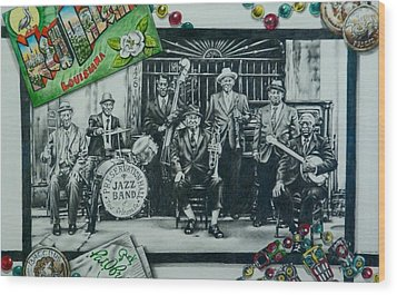 Do You Know What It Means To Miss New Orleans Wood Print by Michael Lee Summers