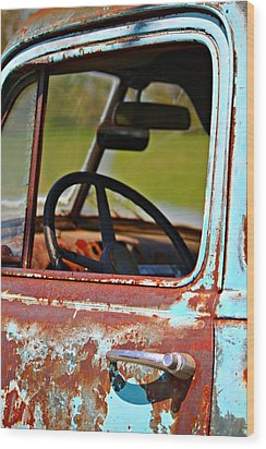 Do You Need A Ride- Fine Art Wood Print by KayeCee Spain