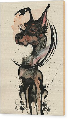 Doberman Wood Print by Mark M  Mellon