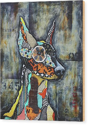 Doberman Pinscher Wood Print
