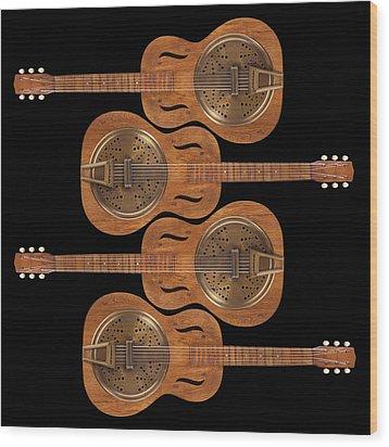 Dobro 5 Wood Print by Mike McGlothlen