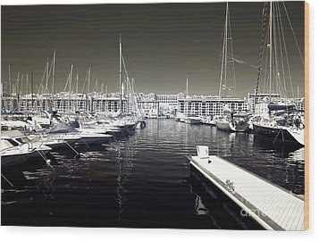 Dock In The Port Wood Print by John Rizzuto