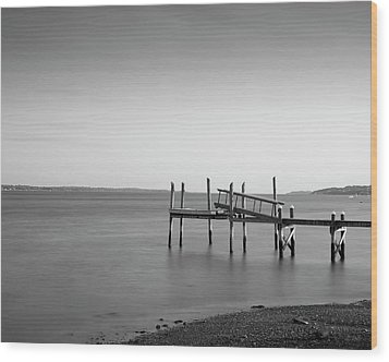Dock Portsmouth Ri I Bw Wood Print by David Gordon