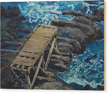 Dock Wood Print by Travis Day