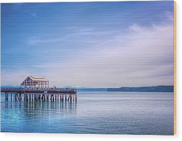 Wood Print featuring the photograph Dockside by Spencer McDonald