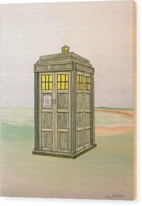 Doctor Who Tardis Wood Print by Gordon Wendling