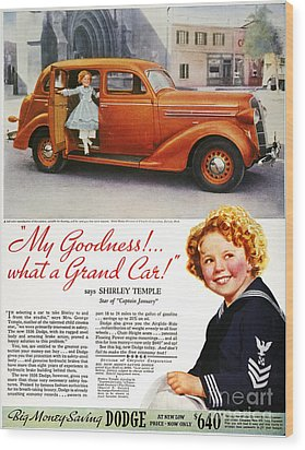 Dodge Automobile Ad, 1936 Wood Print by Granger