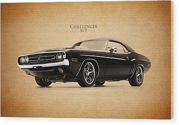Dodge Challenger Wood Print by Mark Rogan