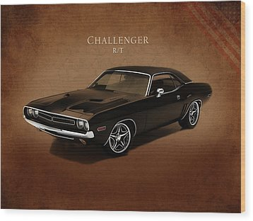 Dodge Challenger Rt Wood Print by Mark Rogan