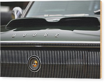 Dodge Charger Hood Wood Print