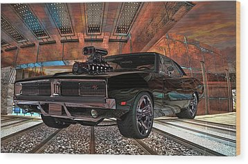 Wood Print featuring the photograph Dodge Charger R/t 1969 Hemi by Louis Ferreira
