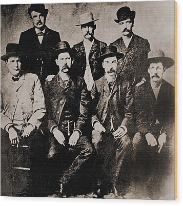 Dodge City Peace Commissioners Wood Print by Everett