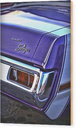 Dodge Dart Swinger Wood Print