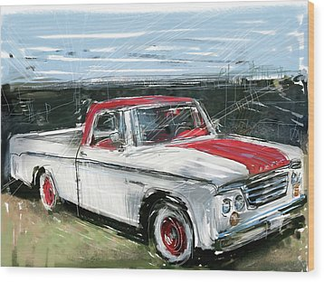 Dodge Truck Wood Print by Russell Pierce