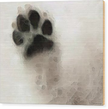 Dog Art - I Paw You Wood Print by Sharon Cummings