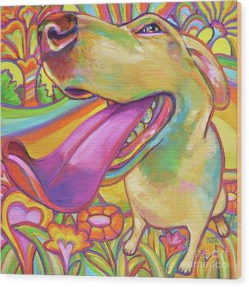 Dog Daze Of Summer Wood Print