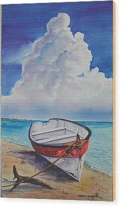 Dog Island Dorie Wood Print by Chuck Creasy