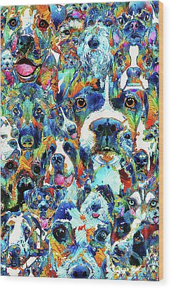 Dog Lovers Delight - Sharon Cummings Wood Print by Sharon Cummings