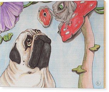 Dog Treat Wood Print