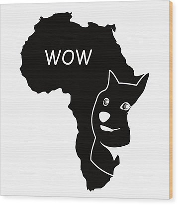 Dogecoin In Africa Wood Print by Michael Jordan