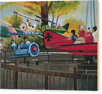 Dogfight Wood Print by John OBrien