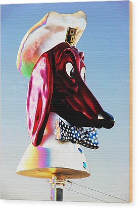 Doggie Diner Sign Wood Print