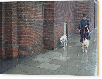 Doggie  Strolling 2 Wood Print by Jez C Self