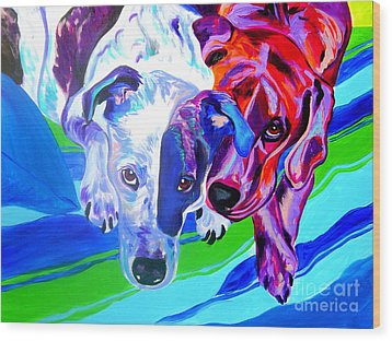 Dogs - Tango And Marley Wood Print by Alicia VanNoy Call