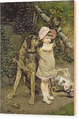 Dog's Company Wood Print by Edgard Farasyn