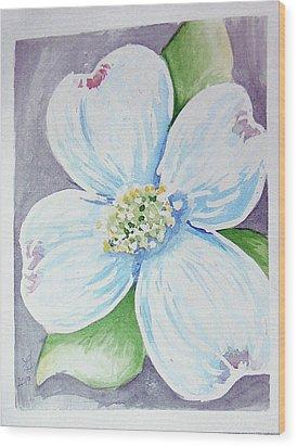 Dogwood Bloom Wood Print by Loretta Nash