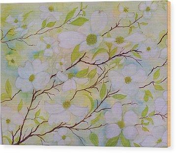 Dogwood Blossoms Wood Print