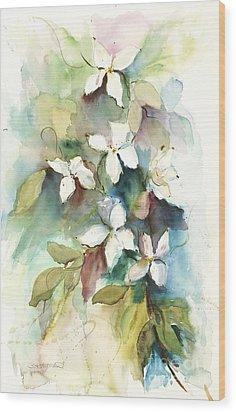 Dogwood Branch Wood Print by Sandra Strohschein
