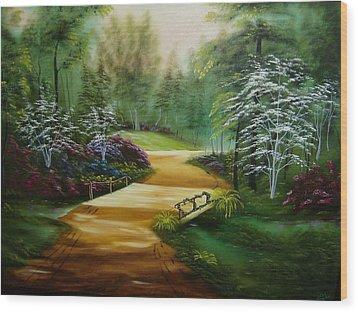 Dogwoods In Springtime Wood Print