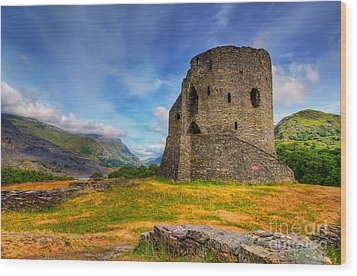 Dolbadarn Castle  Wood Print by Adrian Evans