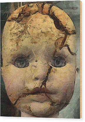 Doll Trauma Wood Print by Anthony Caruso