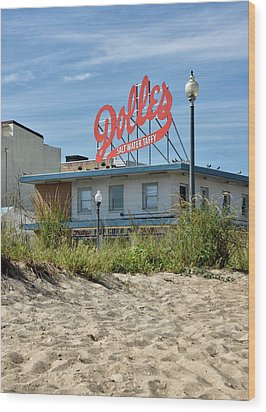 Wood Print featuring the photograph Dolles From The Beach - Rehoboth Beach Delaware by Brendan Reals