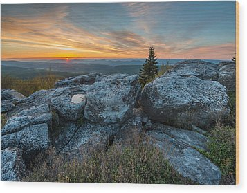 Monongahela National Forest Dolly Sods Wilderness Sunrise Wood Print by Rick Dunnuck