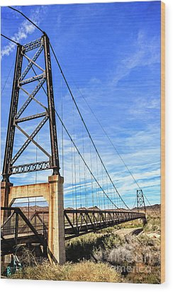 Wood Print featuring the photograph Dome Bridge by Robert Bales
