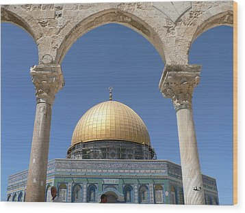 Dome Of The Rock Wood Print by James Lukashenko
