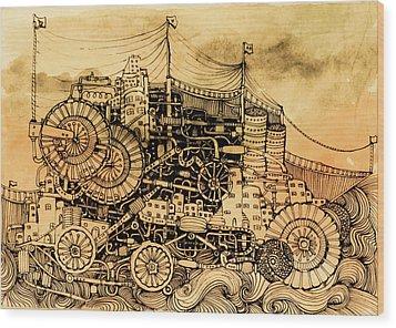 Dominance Wood Print by Anna Deligianni