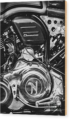 Wood Print featuring the photograph Dominator by Tim Gainey