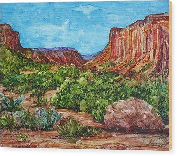 Dominguez Canyon Wood Print