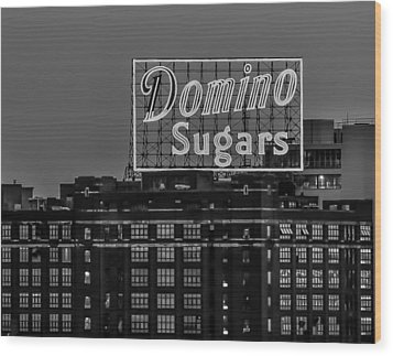 Domino Sugars Sign Wood Print
