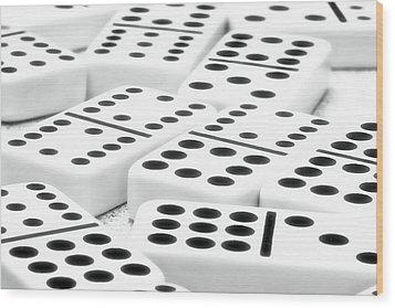 Dominoes I Wood Print by Tom Mc Nemar