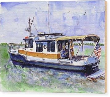 Don And Kathys Boat Wood Print by John D Benson