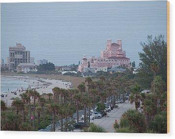 Don Cesar Hotel St Pete Beach Florida Wood Print by John Black