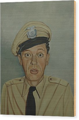 Don Knotts As Barney Fife Wood Print by Tresa Crain