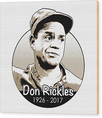 Don Rickles Wood Print by Greg Joens