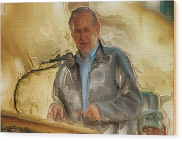 Donald Rumsfeld Wood Print by Brian Reaves